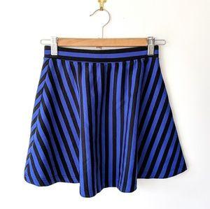 Forever 21 × Striped Skater Skirt